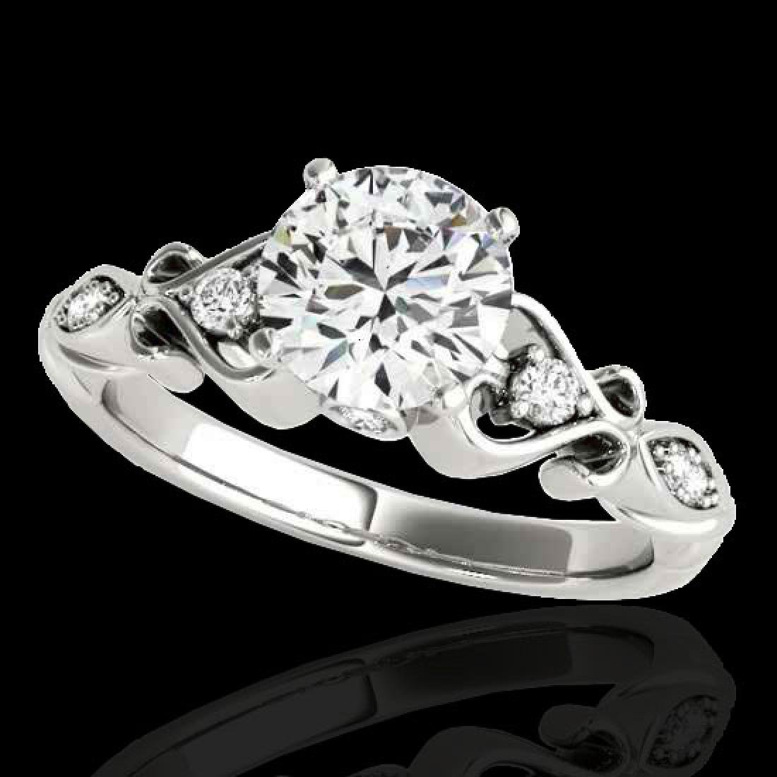 1.15 CTW H-SI/I Certified Diamond Solitaire Antique