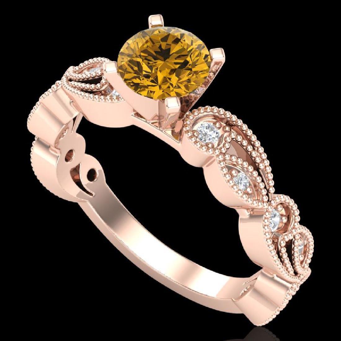 1.01 CTW Intense Fancy Yellow Diamond Engagement Art