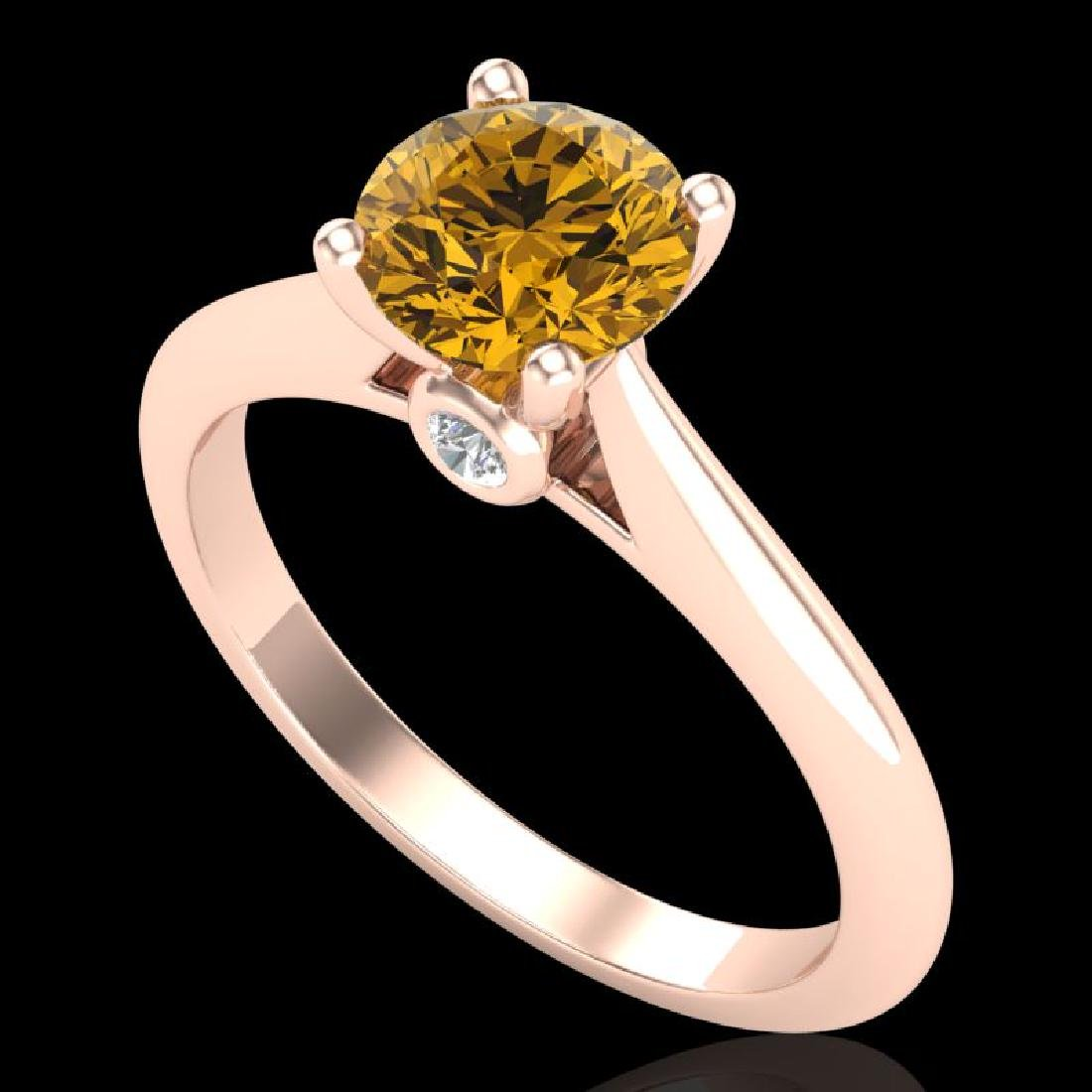1.08 CTW Intense Fancy Yellow Diamond Engagement Art