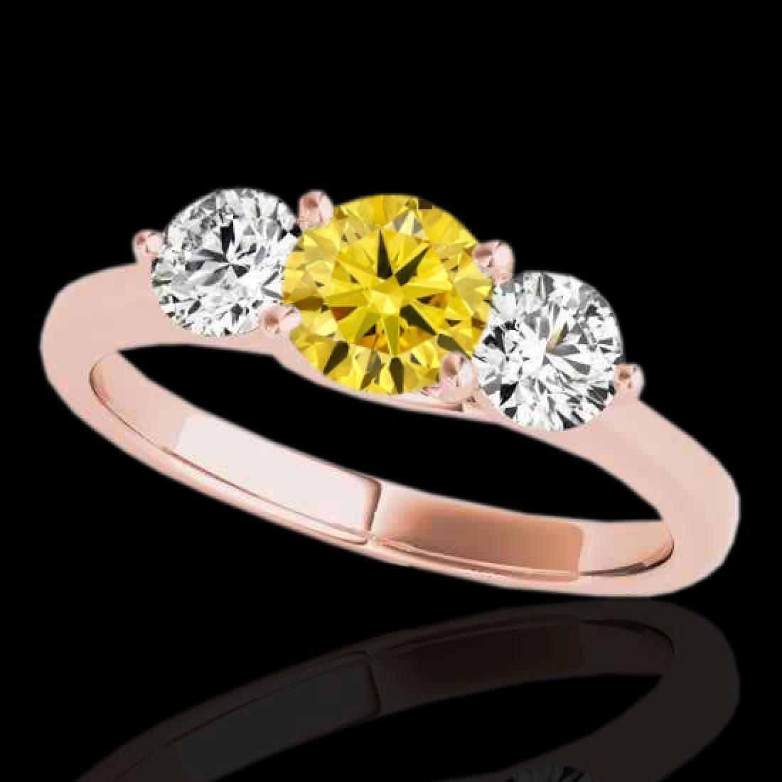 3 CTW Certified SI/I Fancy Intense Yellow Diamond 3
