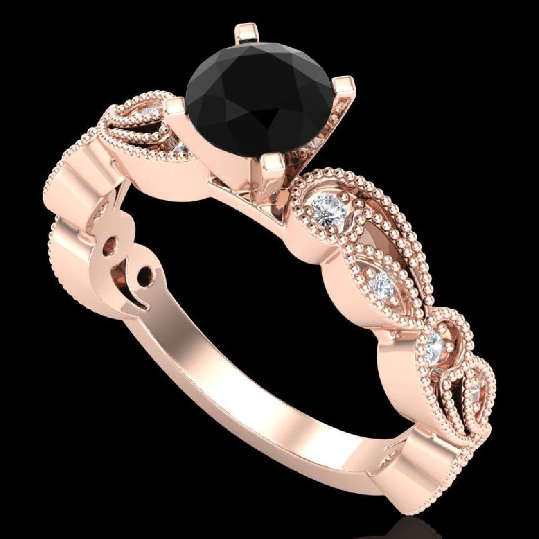 1.01 CTW Fancy Black Diamond Solitaire Engagement Art