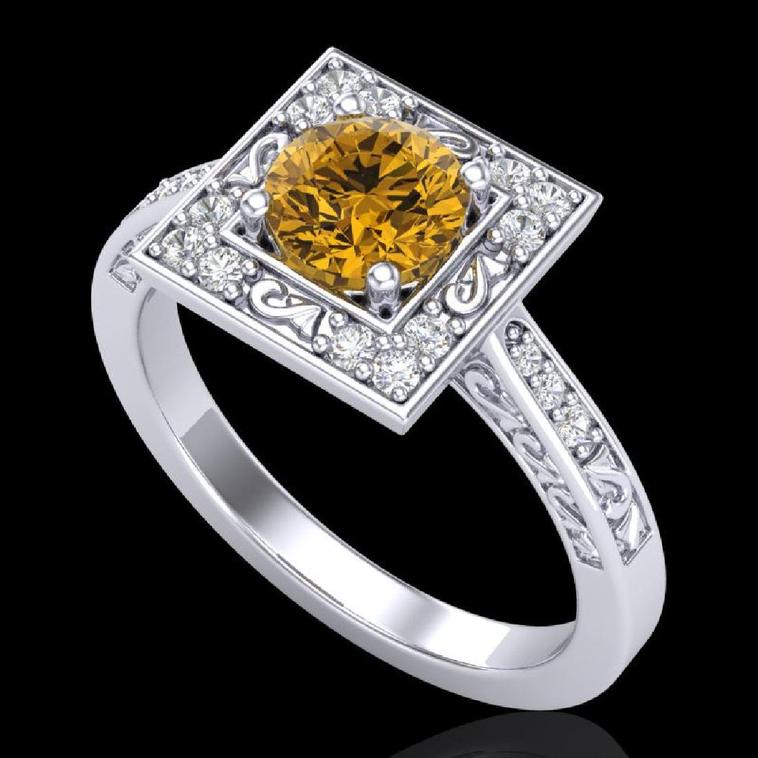 1.1 CTW Intense Fancy Yellow Diamond Engagement Art