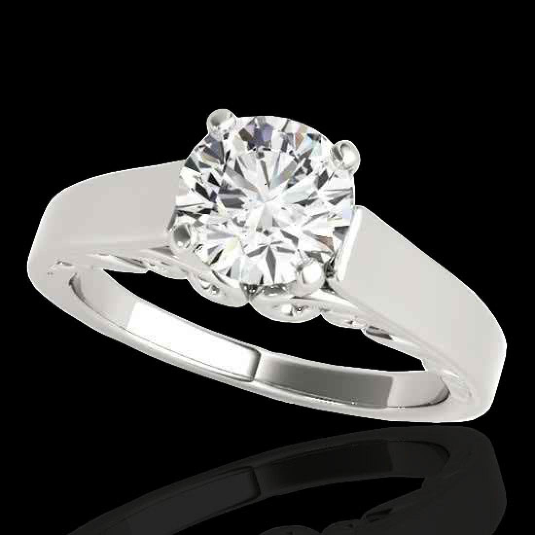 1 CTW H-SI/I Certified Diamond Solitaire Ring 10K White