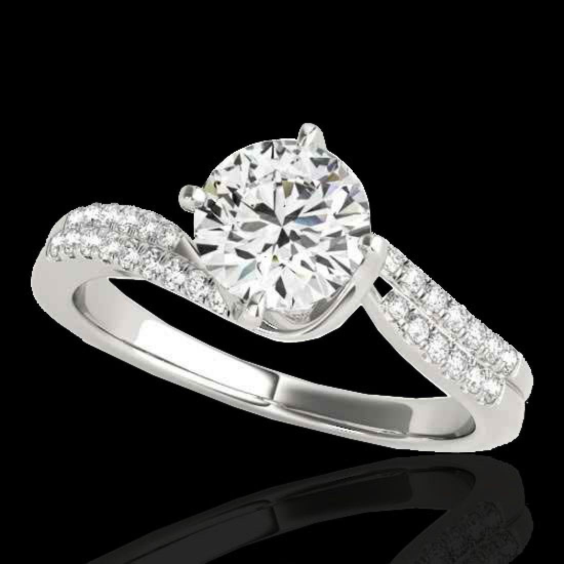 1.2 CTW H-SI/I Certified Diamond Bypass Solitaire Ring