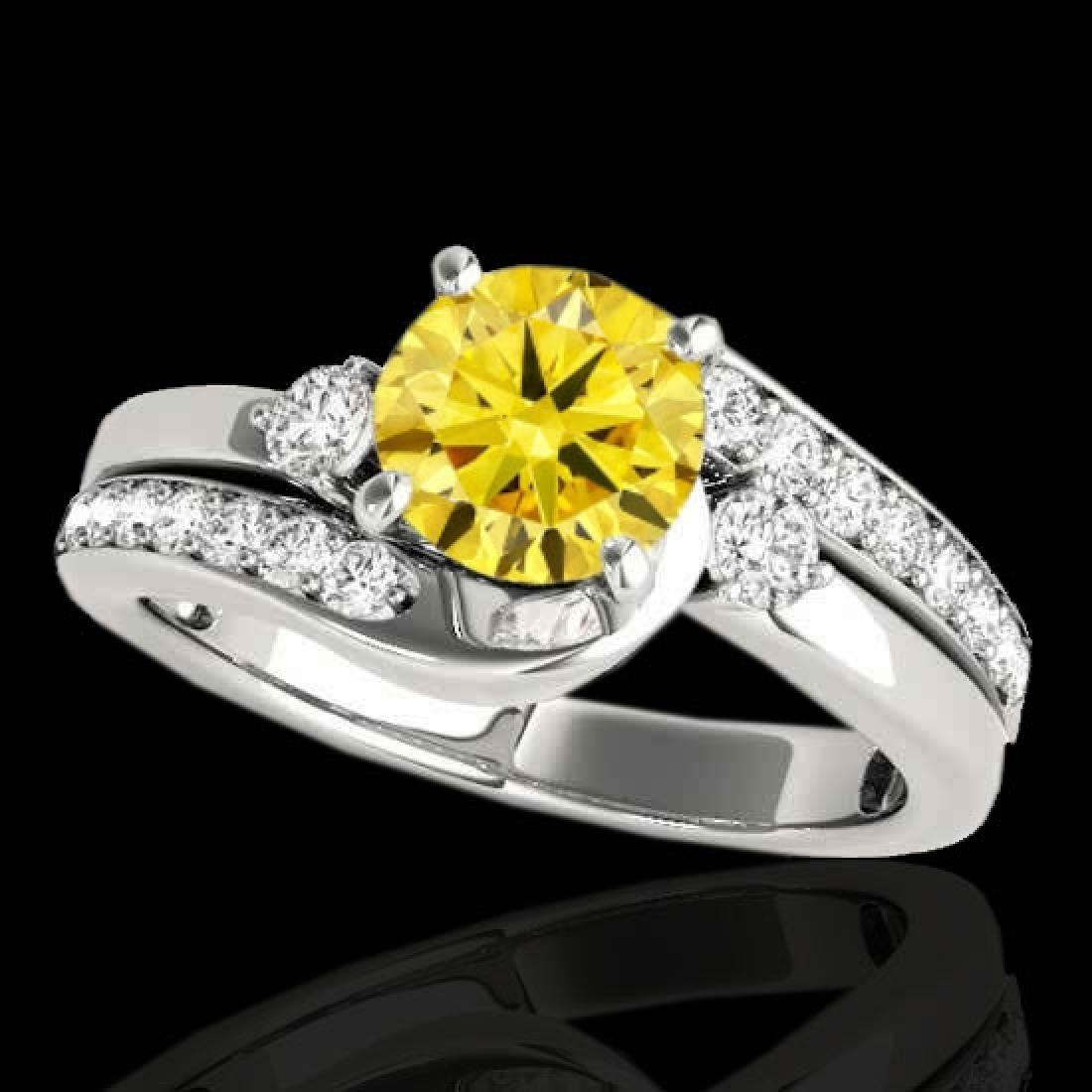 1.5 CTW Certified Si Fancy Yellow Diamond Bypass