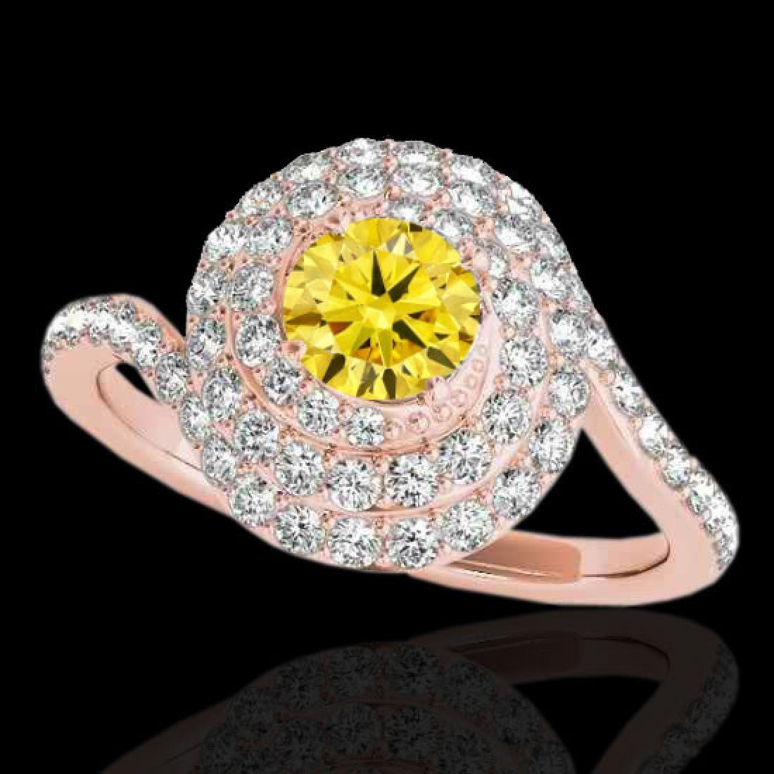 2.11 CTW Certified SI/I Fancy Intense Yellow Diamond