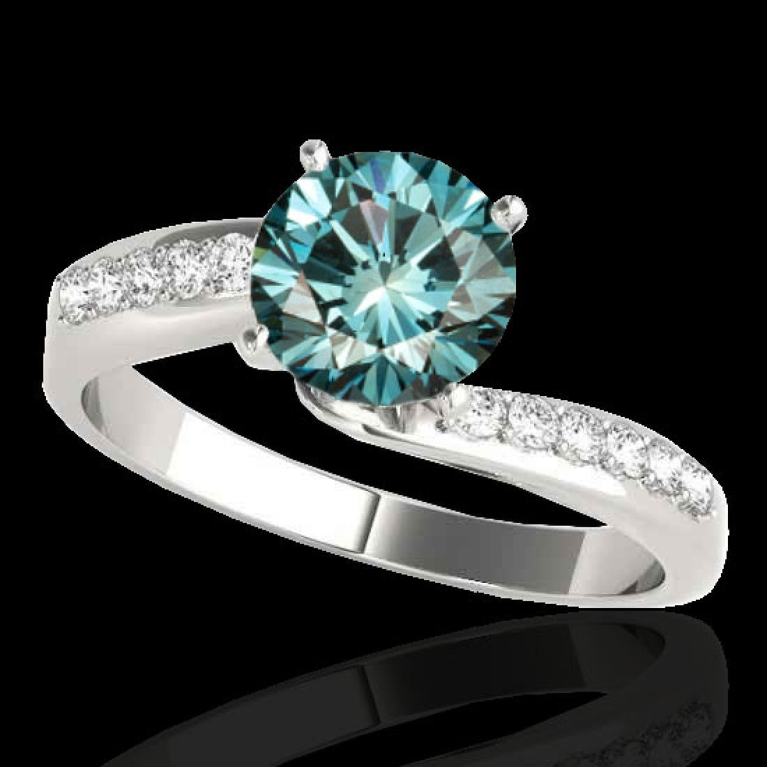 1.15 CTW SI Certified Fancy Blue Diamond Bypass