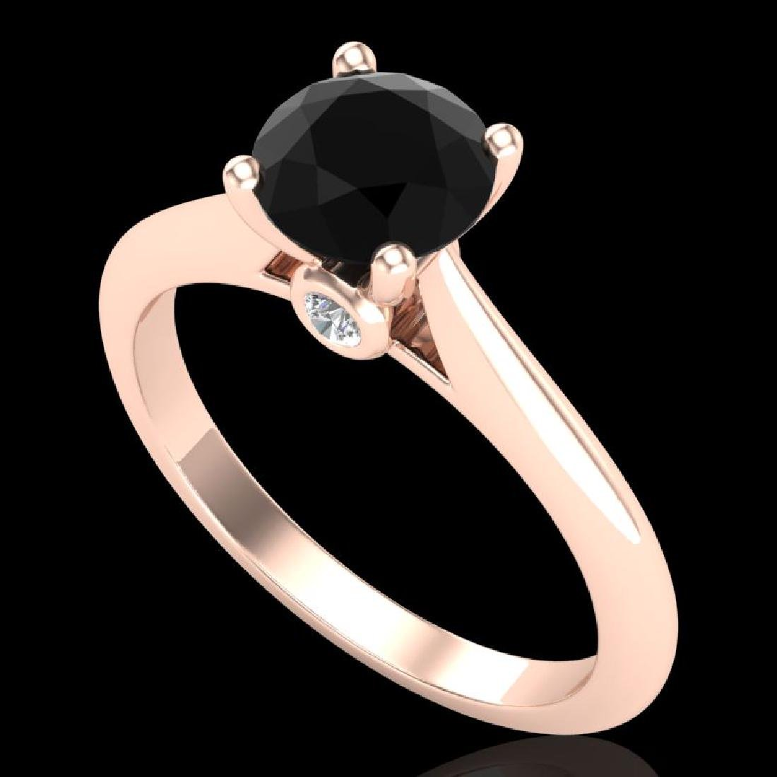 1.08 CTW Fancy Black Diamond Solitaire Engagement Art