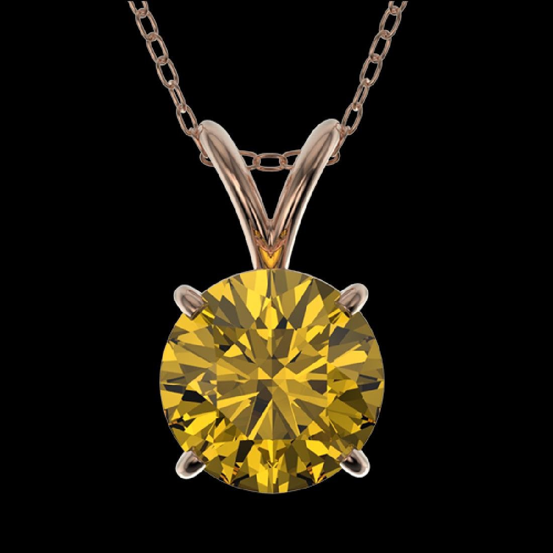 1.21 CTW Certified Intense Yellow SI Diamond Solitaire