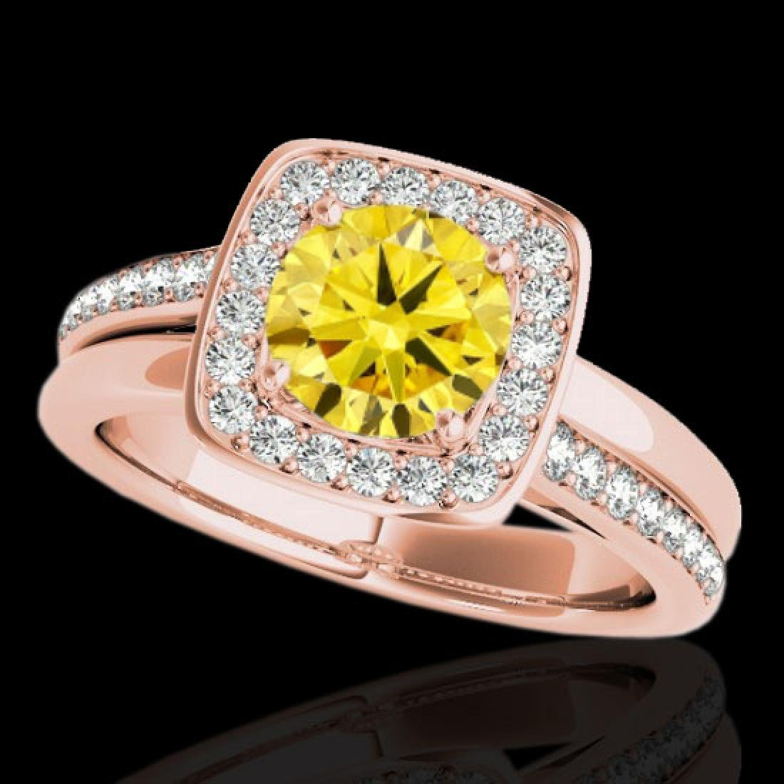1.33 CTW Certified SI/I Fancy Intense Yellow Diamond