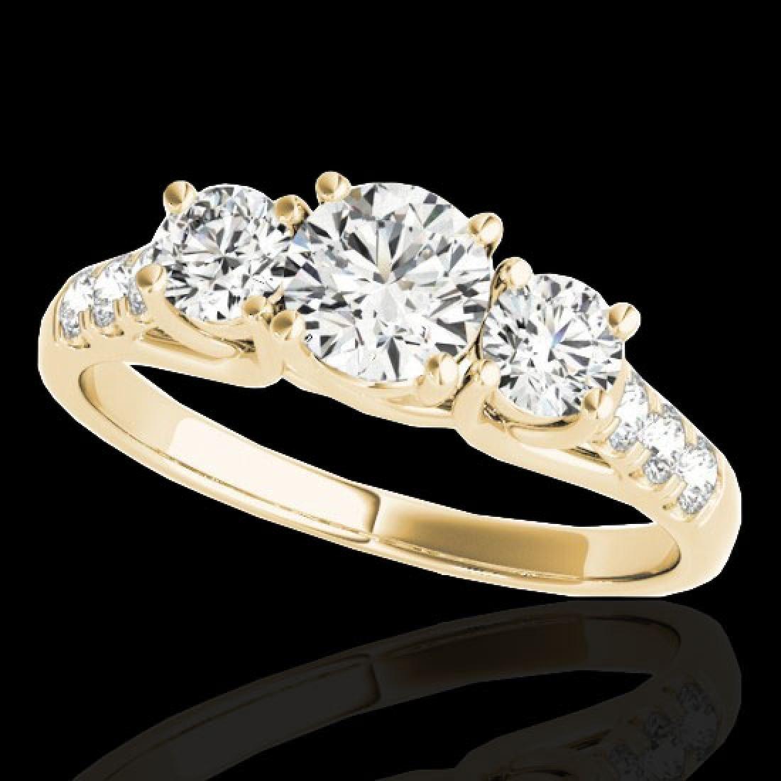 3.25 CTW H-SI/I Certified Diamond 3 Stone Ring 10K