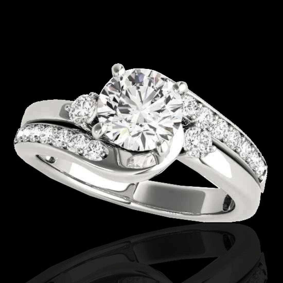 1.5 CTW H-SI/I Certified Diamond Bypass Solitaire Ring