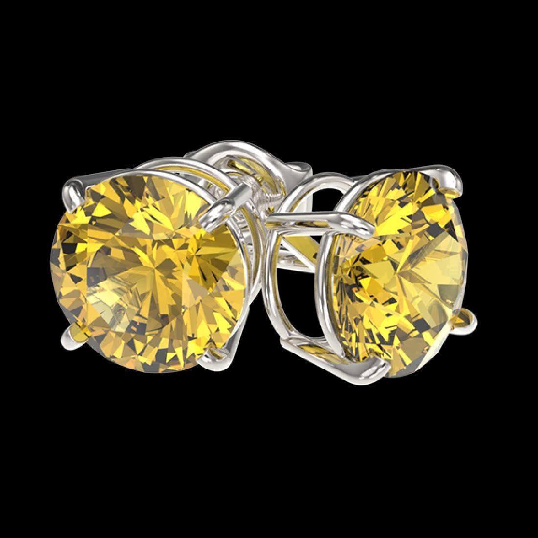 2.11 CTW Certified Intense Yellow SI Diamond Solitaire - 3