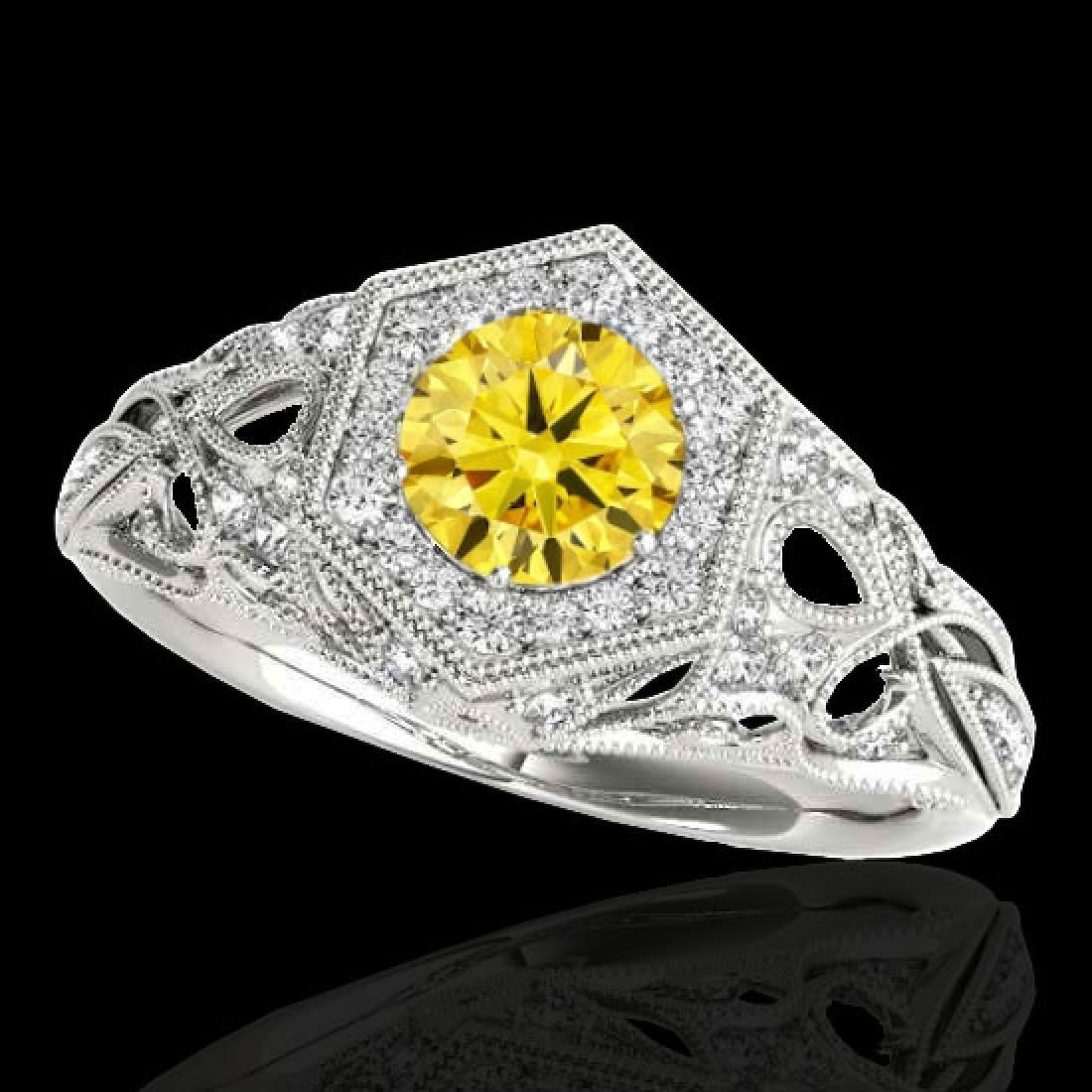 1.4 CTW Certified SI/I Fancy Intense Yellow Diamond