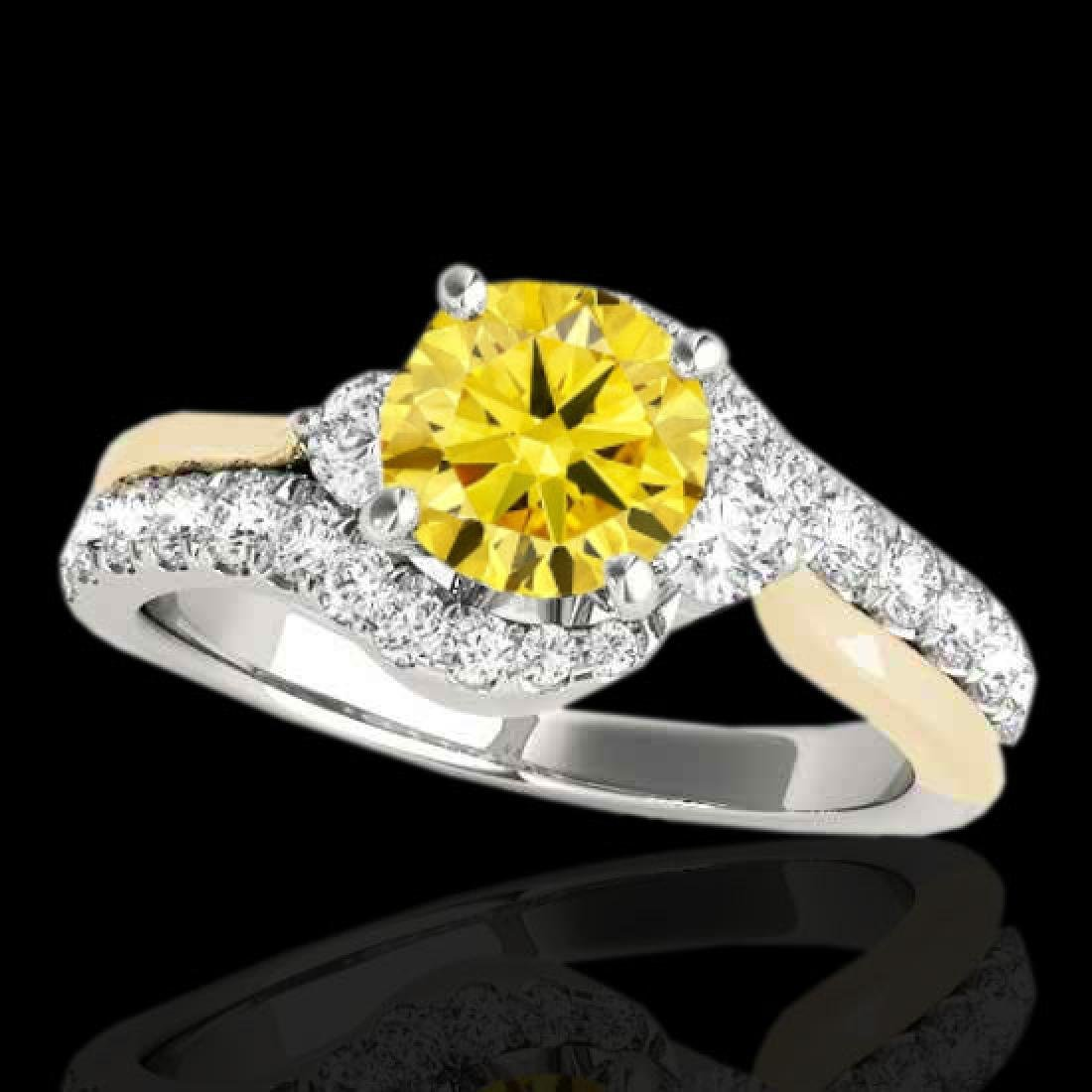 1.6 CTW Certified Si Intense Diamond Bypass Solitaire