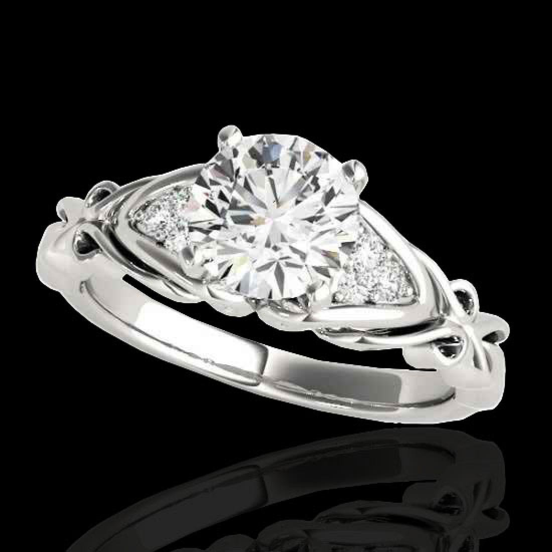 1.1 CTW H-SI/I Certified Diamond Solitaire Ring 10K