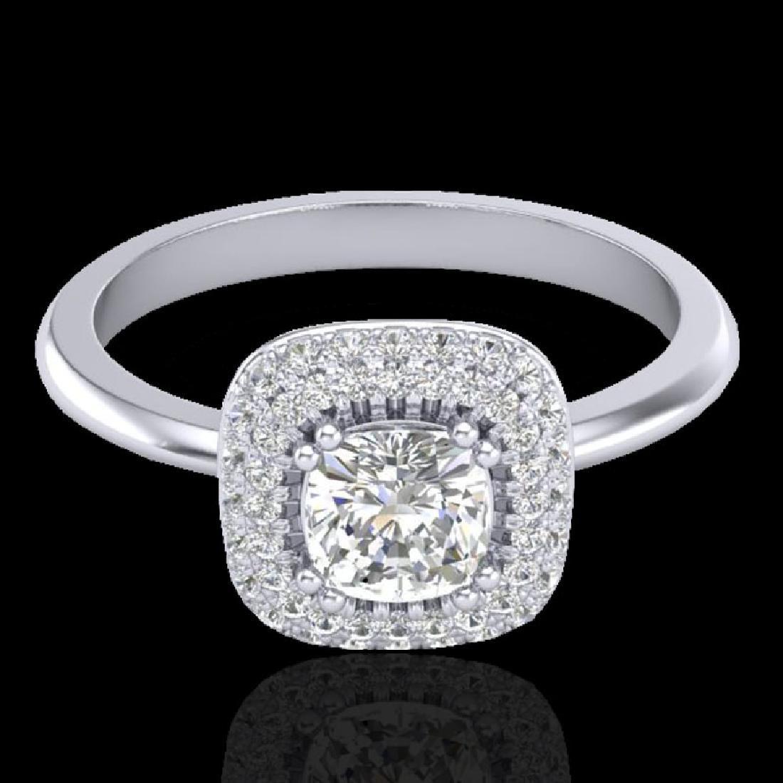 1.16 CTW Micro Si Cushion Diamond Engagement Ring