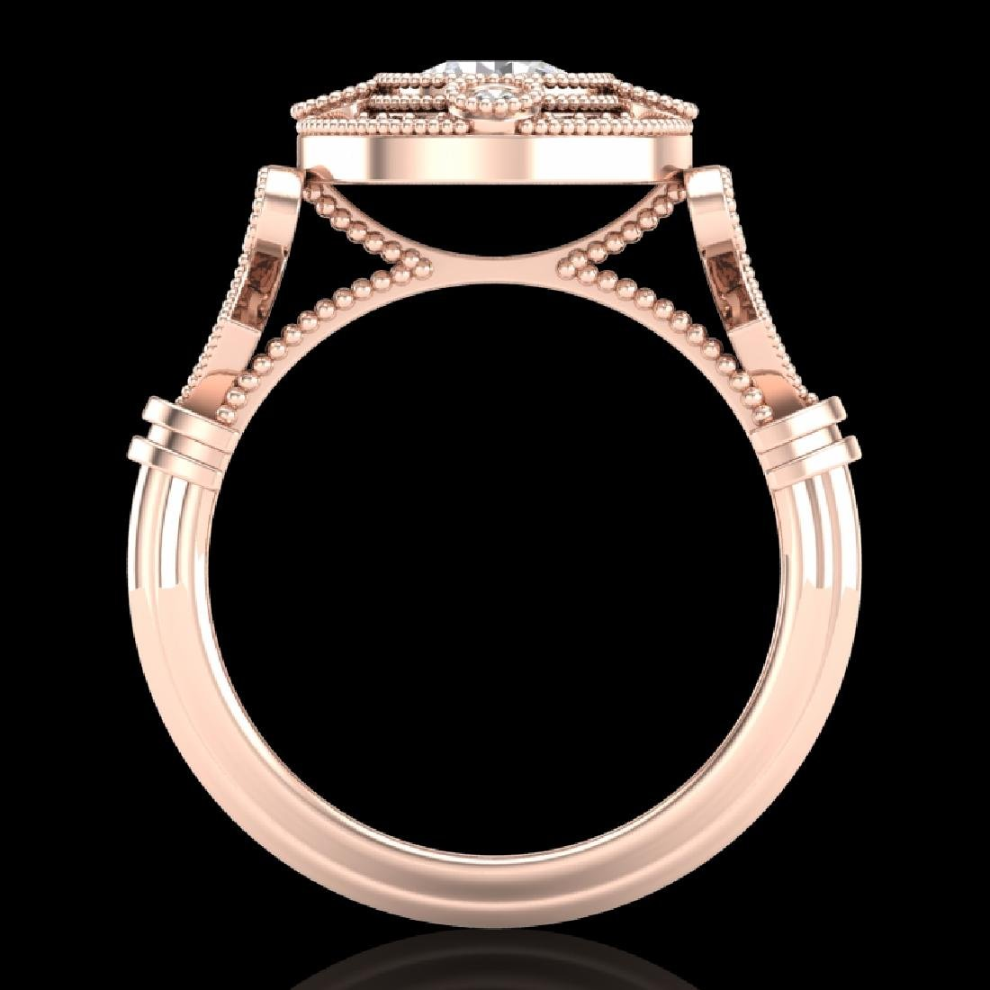 1.12 CTW VS/SI Diamond Solitaire Art Deco Ring 18K Rose