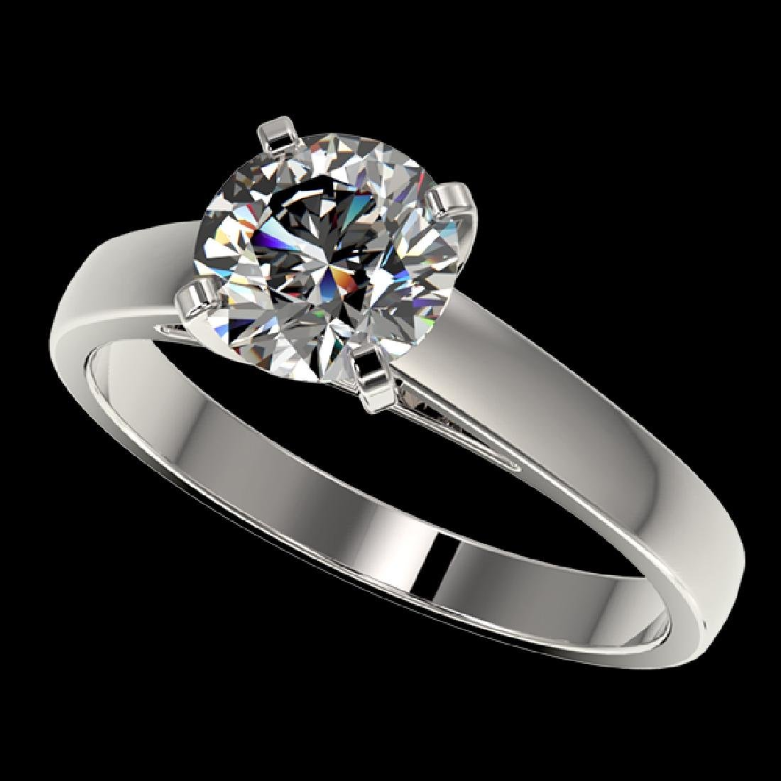 1.55 CTW Certified H-SI/I Quality Diamond Solitaire