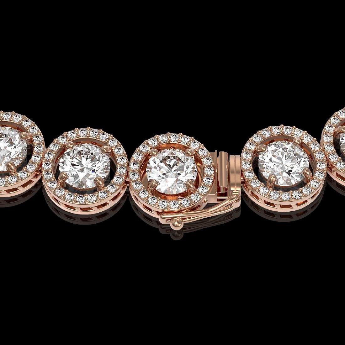 30.78 CTW Diamond Designer Necklace 18K Rose Gold - 3