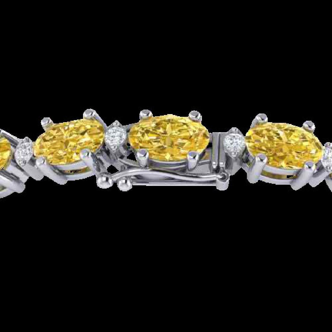 19.7 CTW Citrine & VS/SI Certified Diamond Eternity