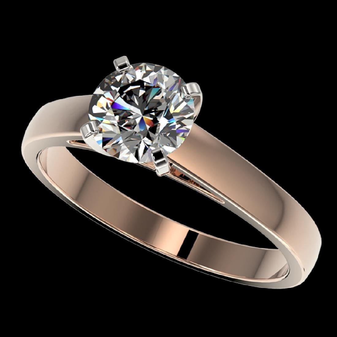 1.29 CTW Certified H-SI/I Quality Diamond Solitaire