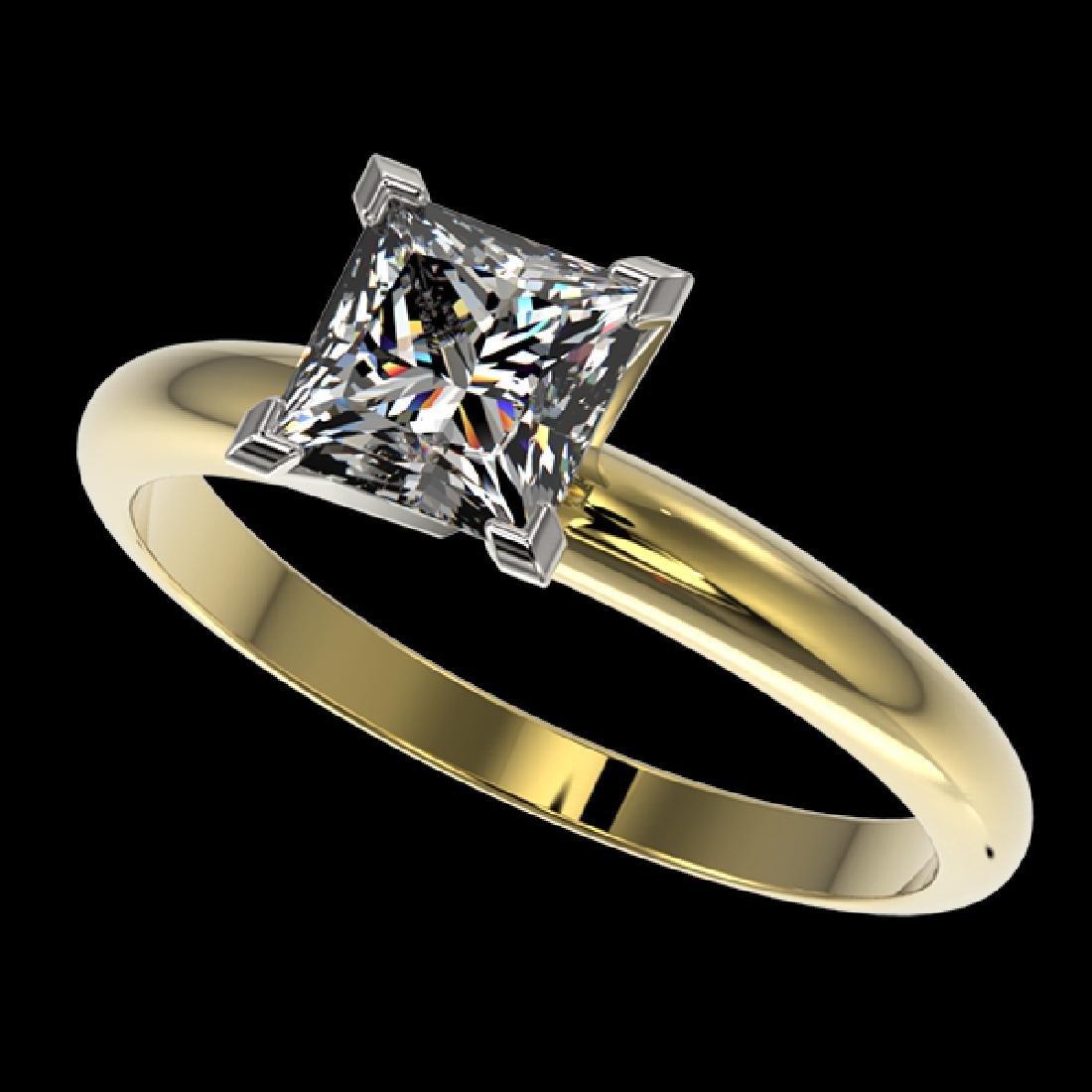 1.25 CTW Certified VS/SI Quality Princess Diamond
