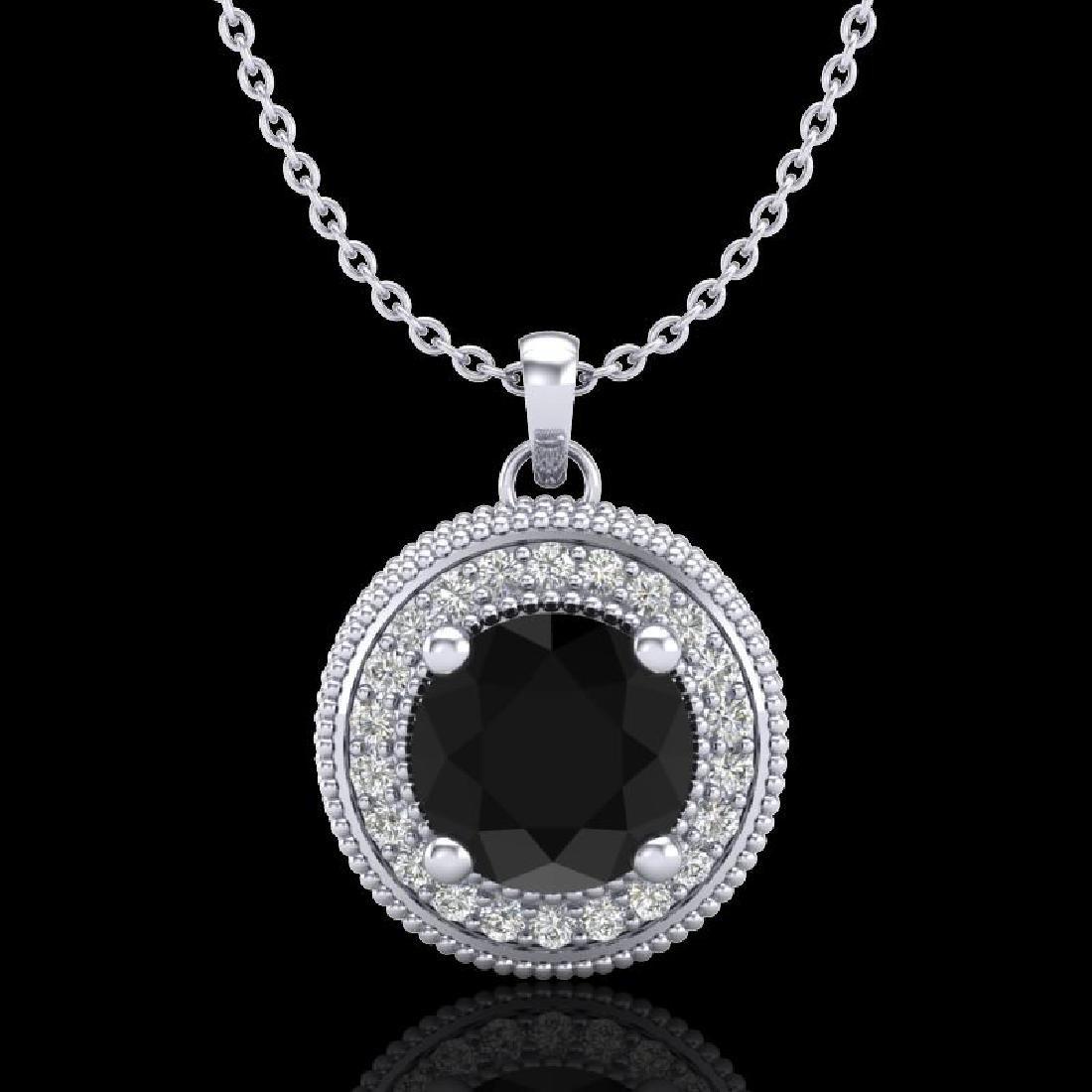 1.25 CTW Fancy Black Diamond Solitaire Art Deco Stud