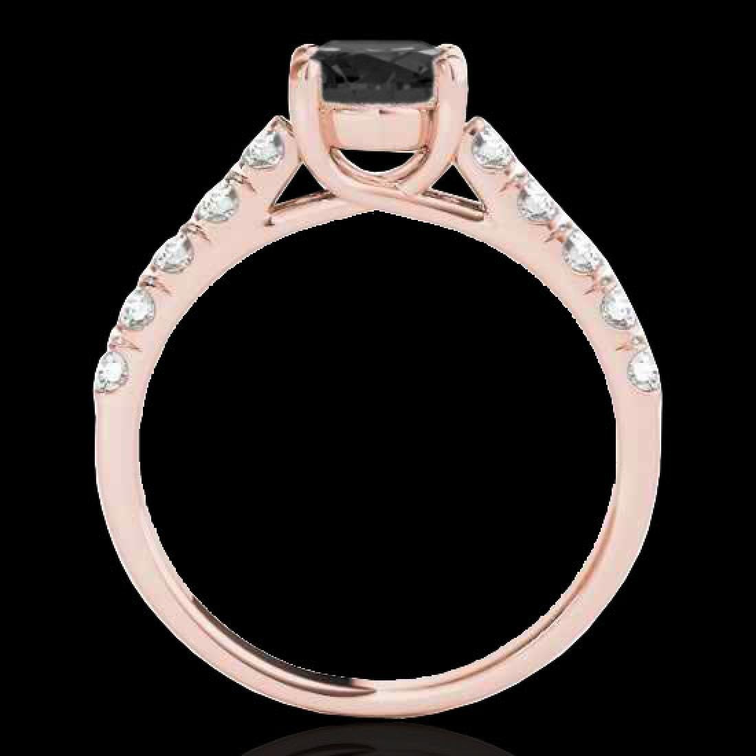 2.1 CTW Certified VS Black Diamond Solitaire Ring 10K - 2