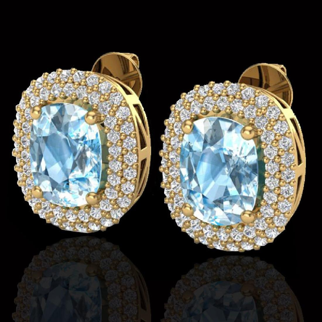 6 CTW Sky Blue Topaz & Micro Pave VS/SI Diamond Halo