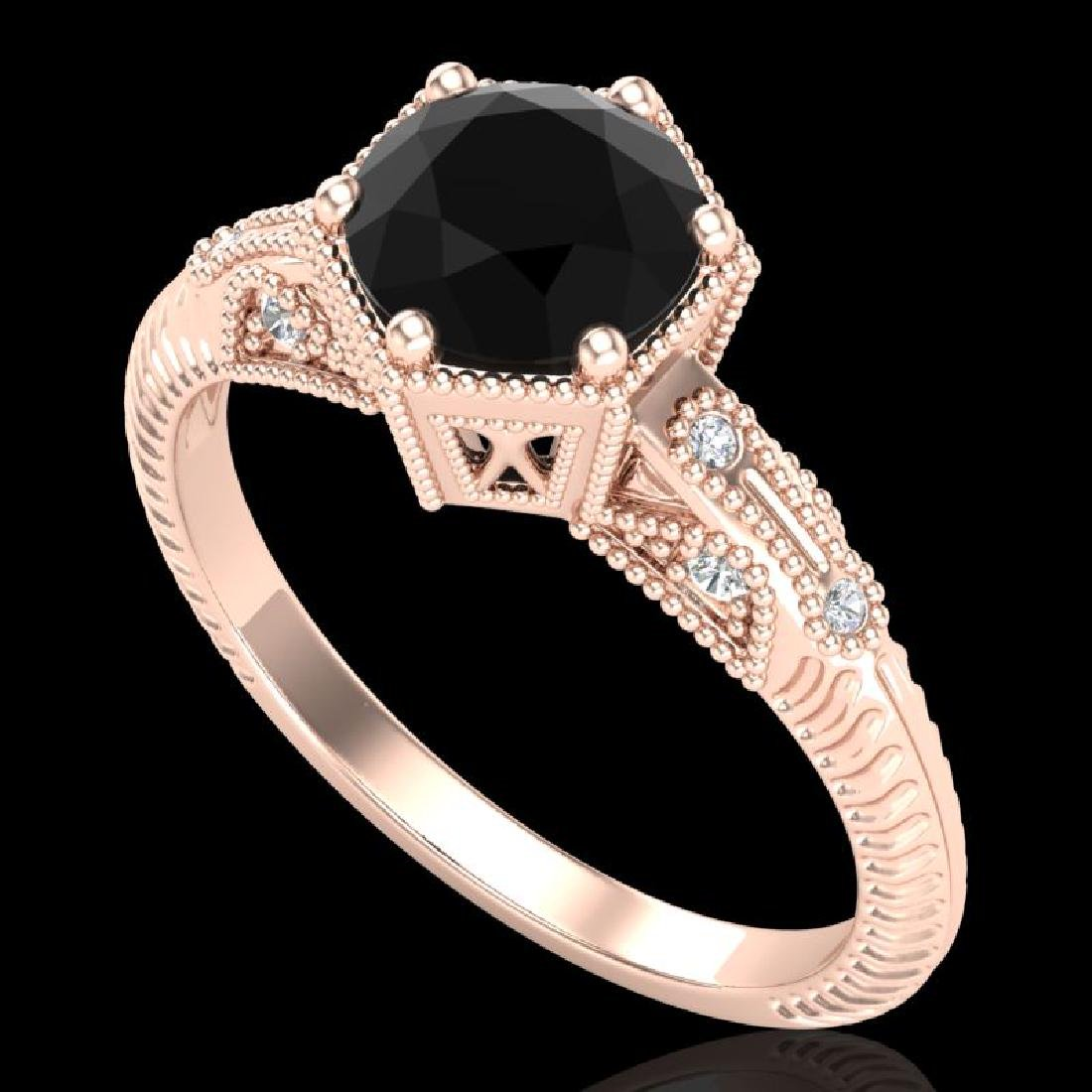 1.17 CTW Fancy Black Diamond Solitaire Engagement Art