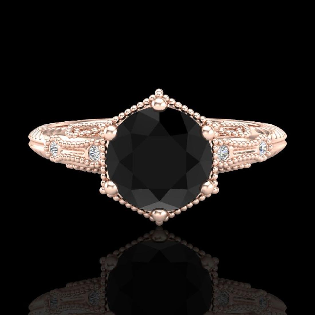 1.17 CTW Fancy Black Diamond Solitaire Engagement Art - 2