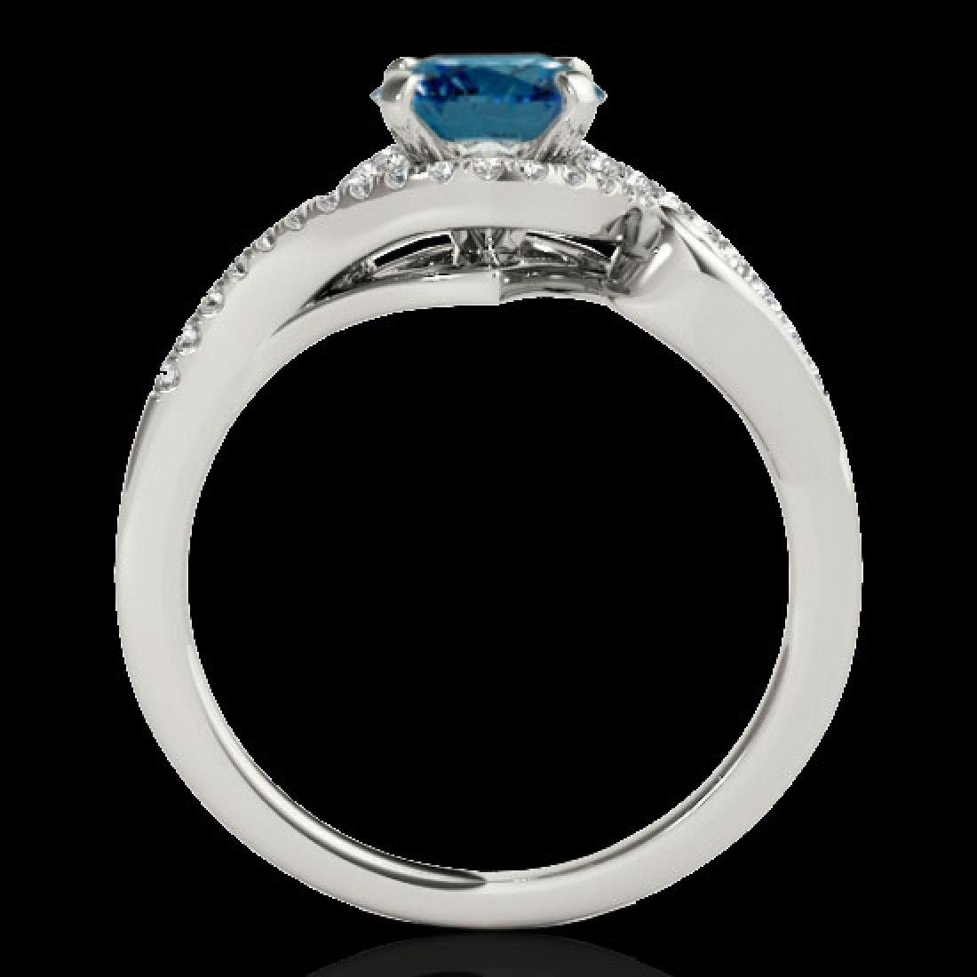 1.25 CTW SI Certified Fancy Blue Diamond Solitaire Halo - 2