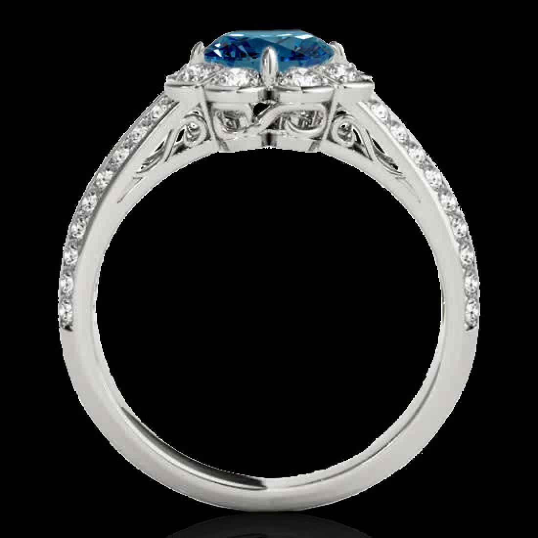 2.05 CTW SI Certified Fancy Blue Diamond Solitaire Halo - 2