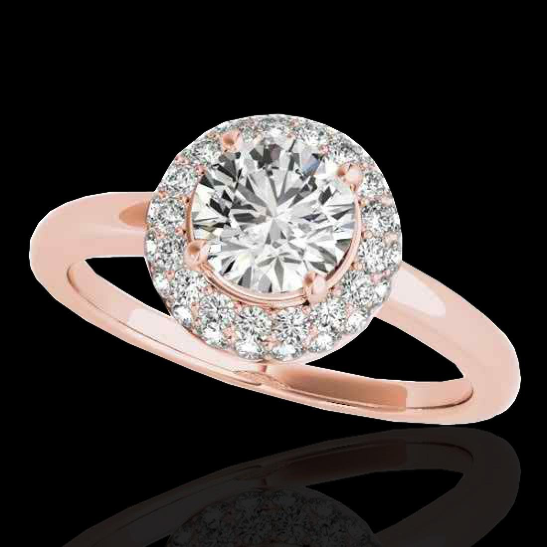 1.43 CTW H-SI/I Certified Diamond Solitaire Halo Ring