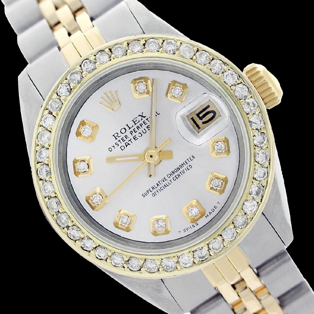 Rolex Ladies Two Tone 14K Gold/SS, Diamond Dial &