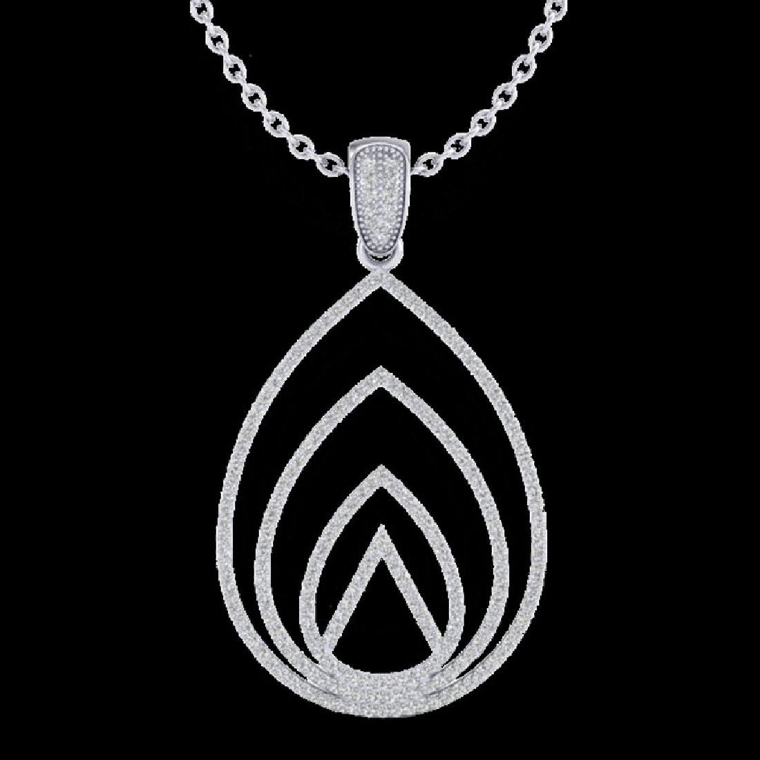 1.25 CTW Micro Pave VS/SI Diamond Designer Necklace 18K - 2