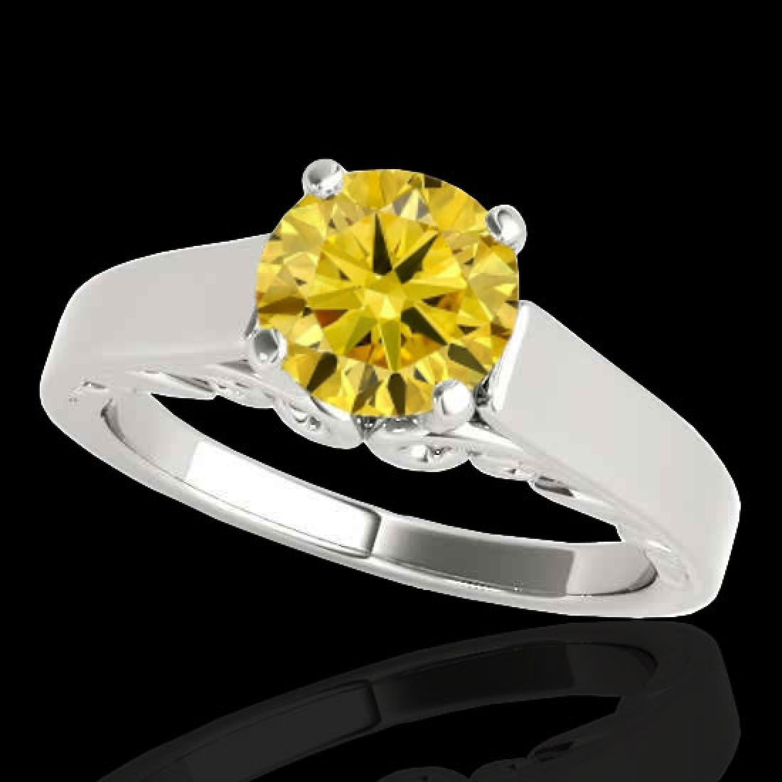 1.25 CTW Certified SI/I Fancy Intense Yellow Diamond