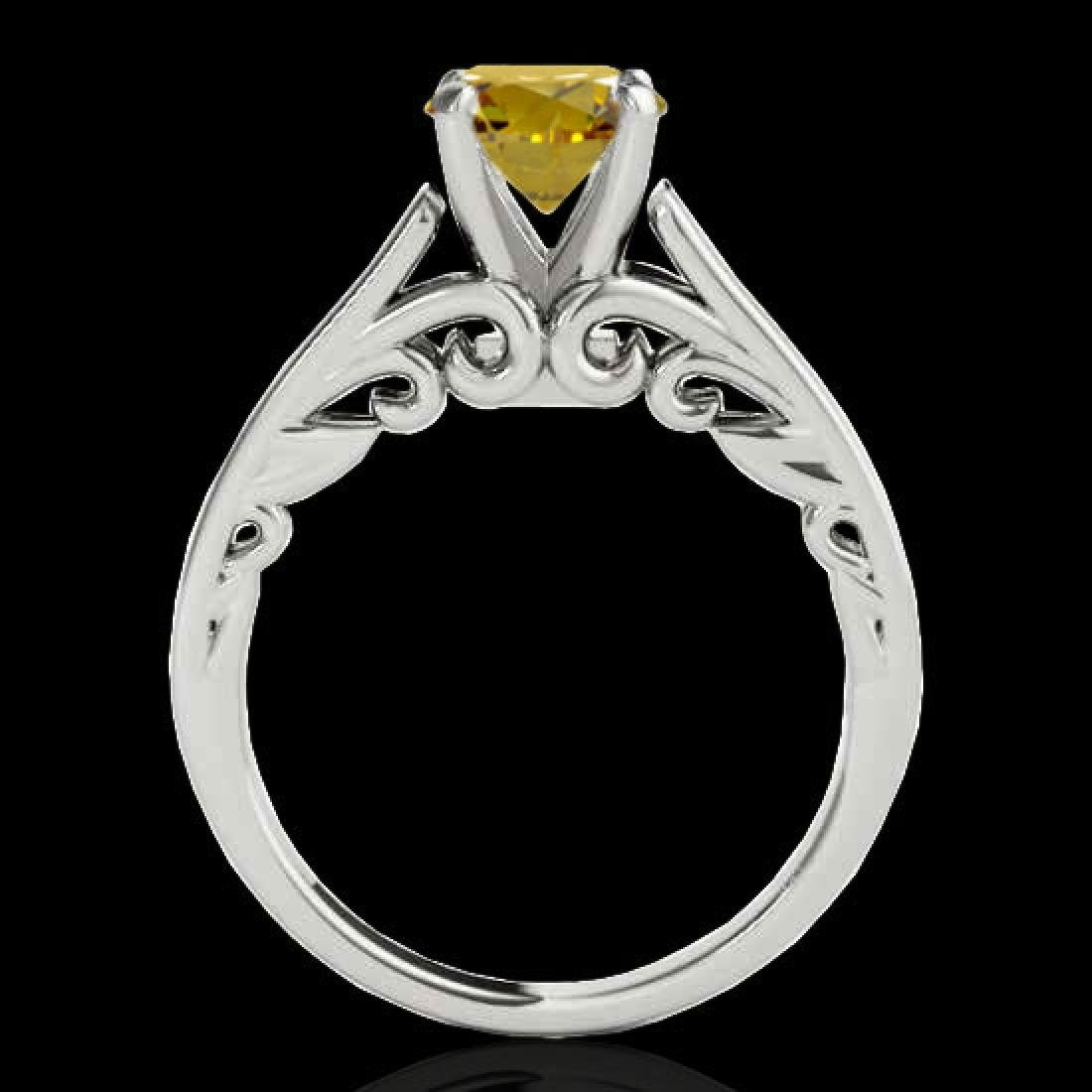 1.25 CTW Certified SI/I Fancy Intense Yellow Diamond - 2