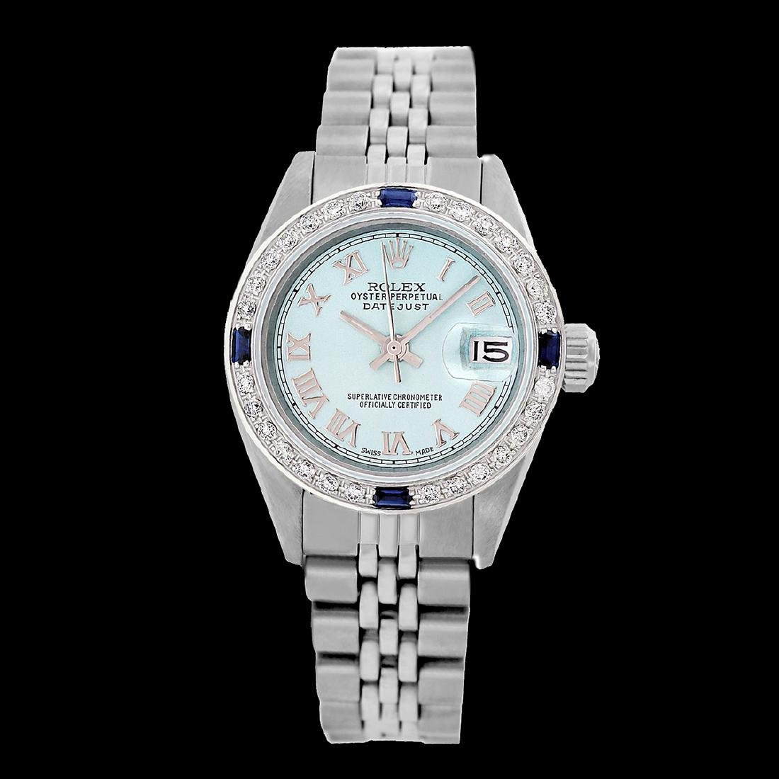 Rolex Ladies Stainless Steel, Roman Dial with - 2