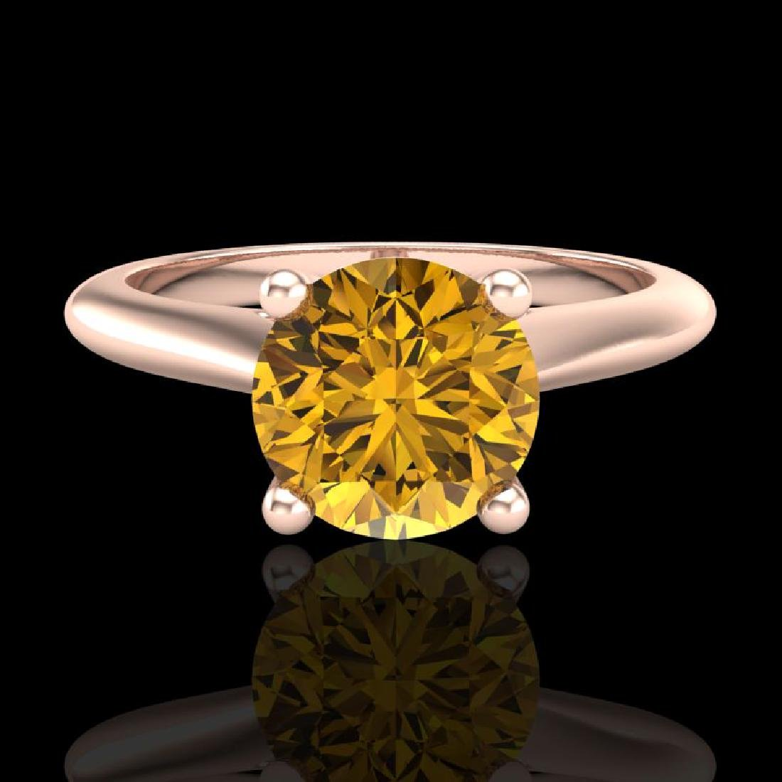 1.36 CTW Intense Fancy Yellow Diamond Engagement Art - 2