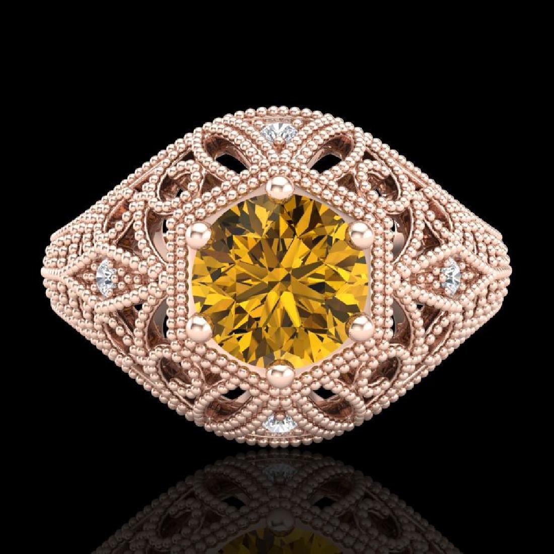 1.07 CTW Intense Fancy Yellow Diamond Engagement Art - 2