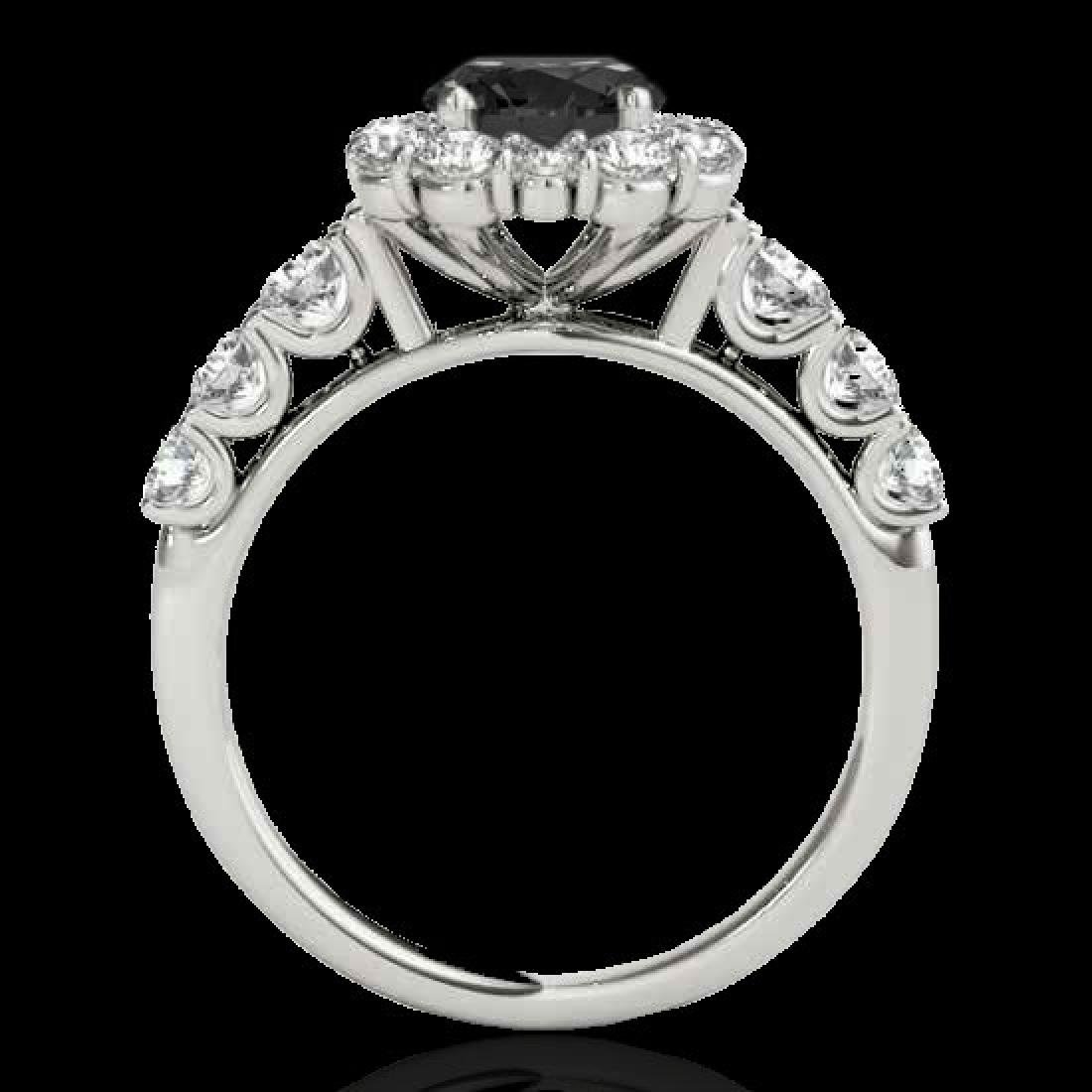 2.9 CTW Certified VS Black Diamond Solitaire Halo Ring - 2