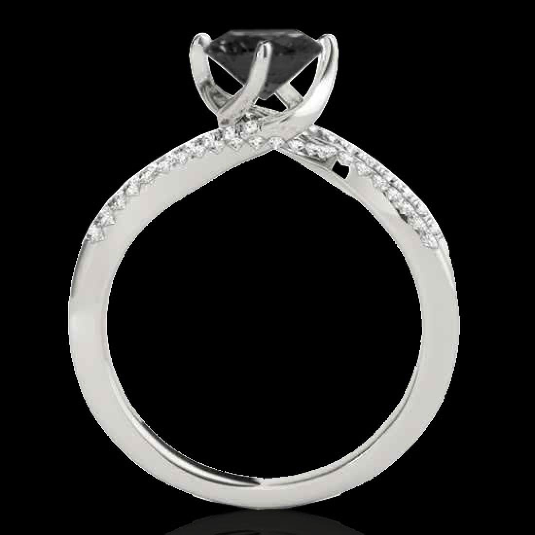 1.2 CTW Certified VS Black Diamond Bypass Solitaire - 2
