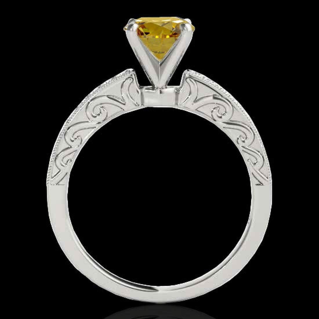 1.43 CTW Certified Si Intense Yellow Diamond Solitaire - 2