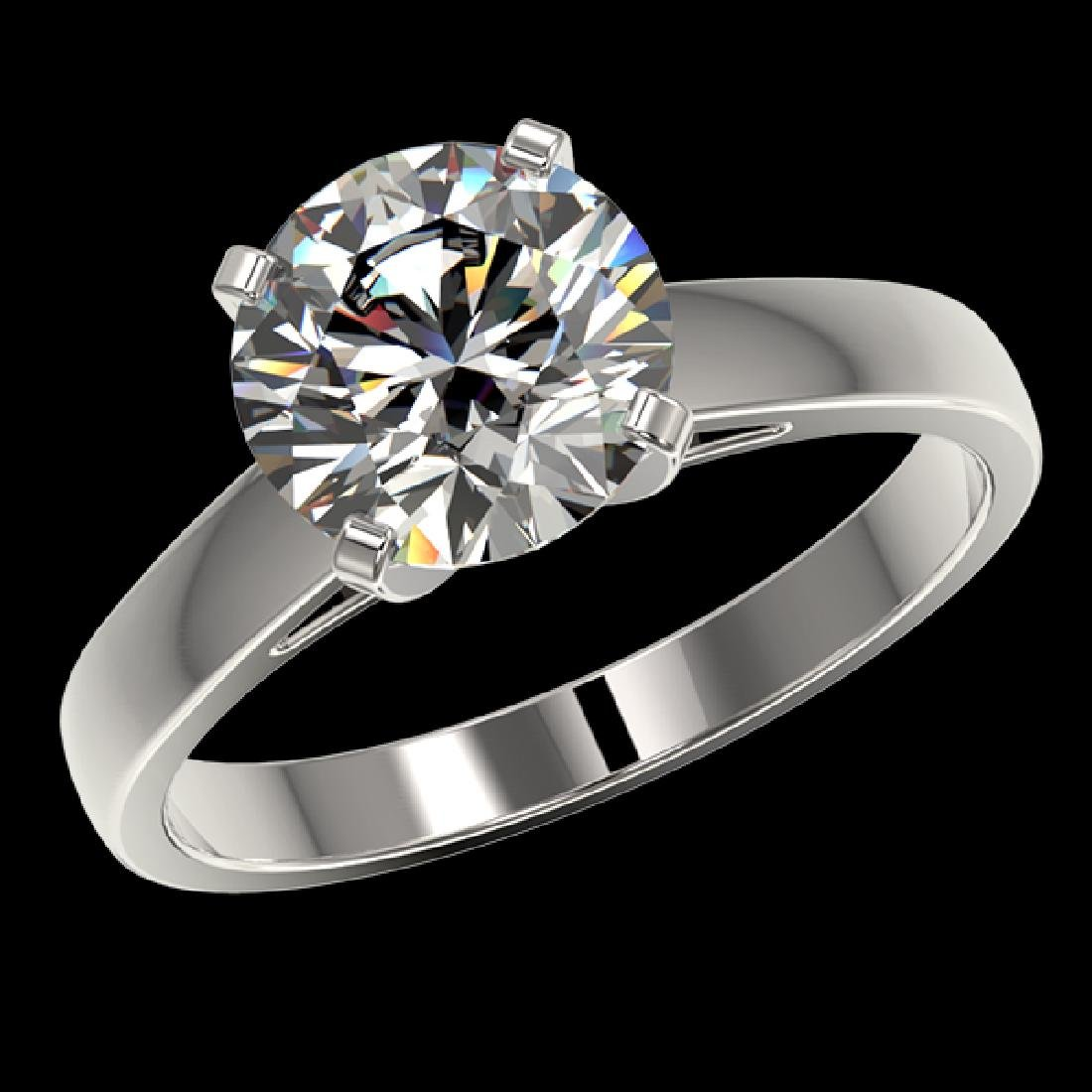 2.55 CTW Certified H-SI/I Quality Diamond Solitaire - 2