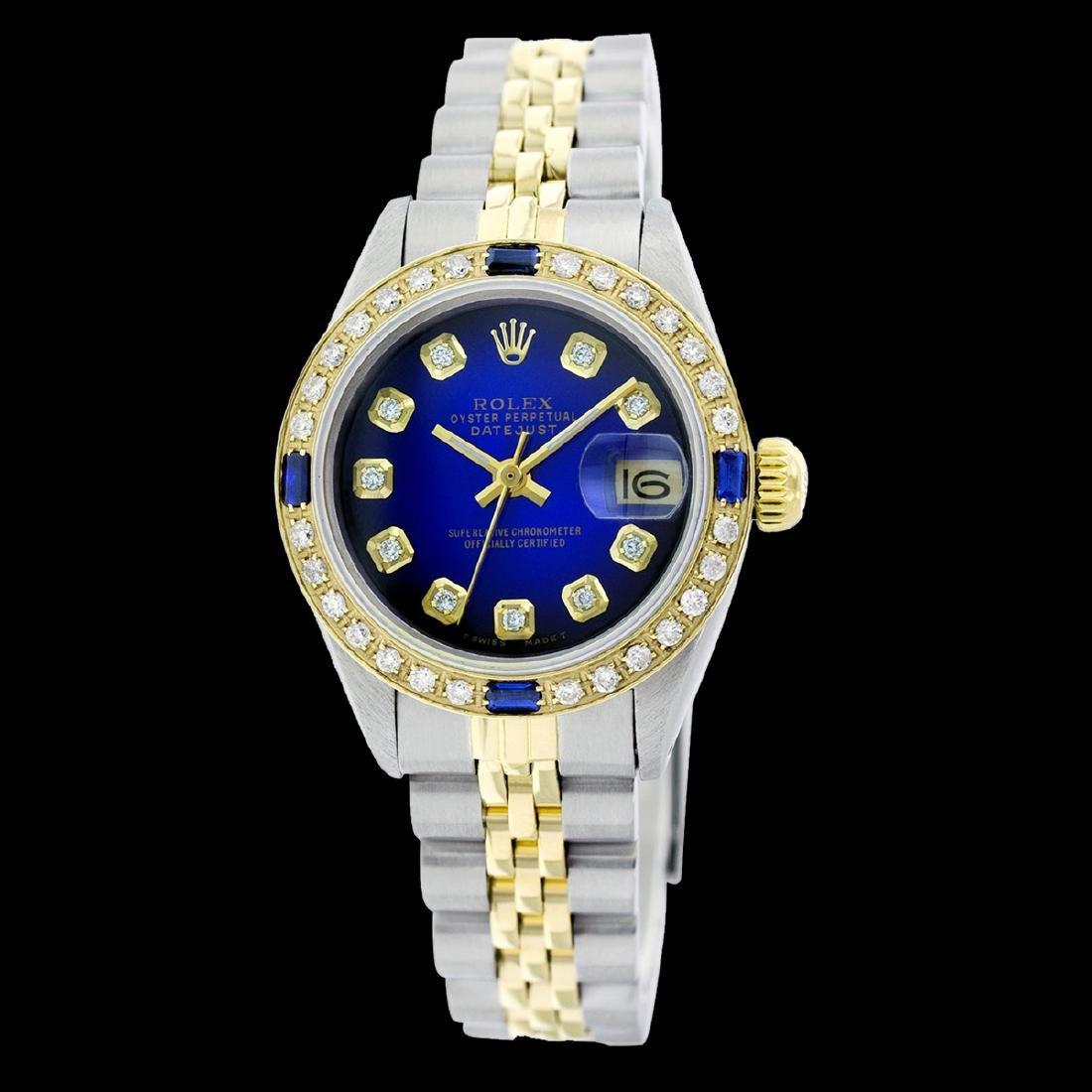 Rolex Men's Stainless Steel, QuickSet, Diam Dial &