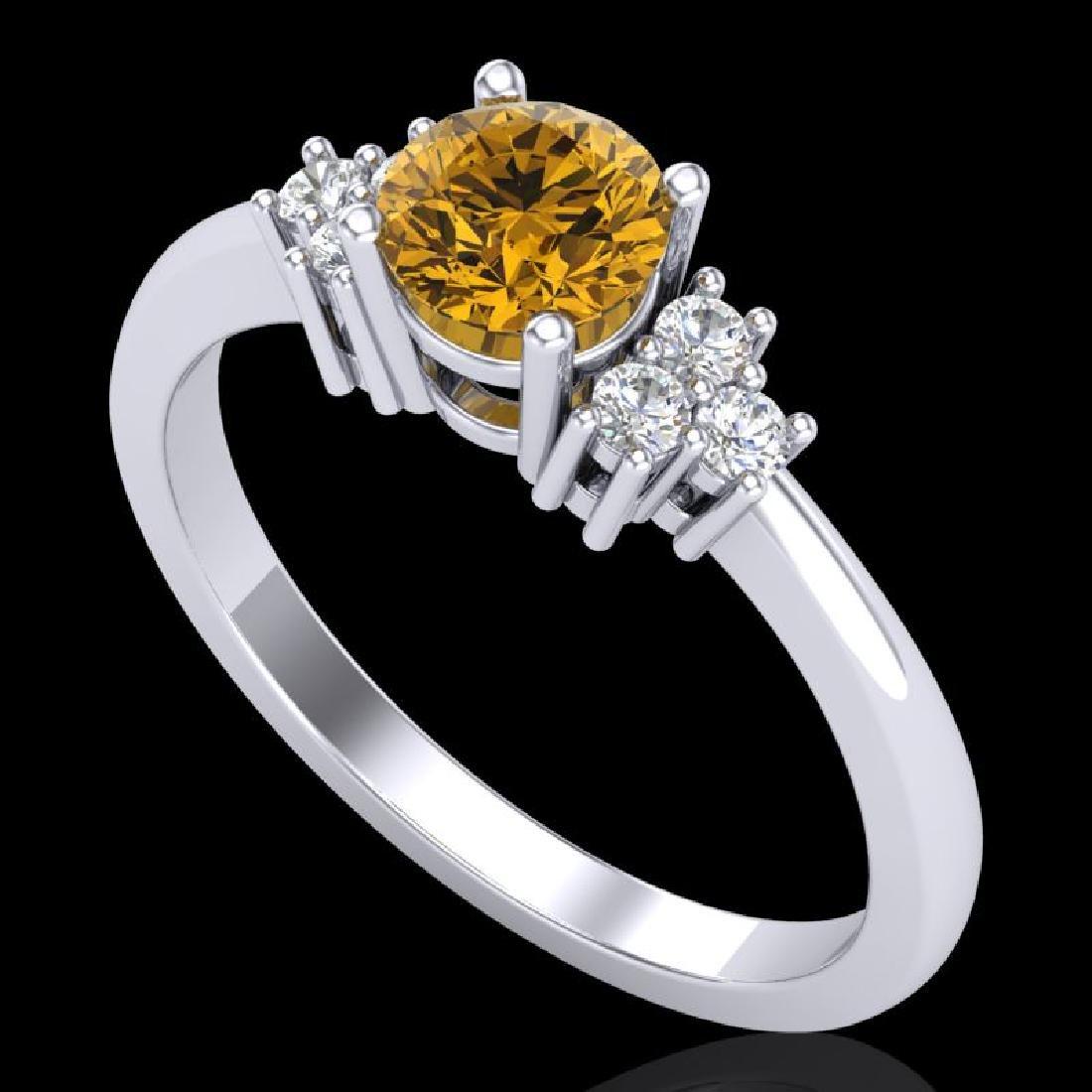 0.75 CTW Intense Fancy Yellow Diamond Engagement