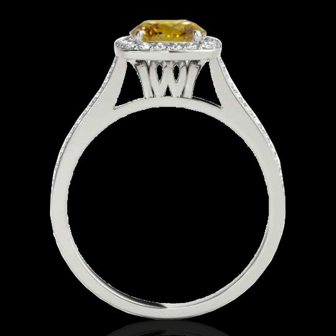 1.65 CTW Certified SI/I Fancy Intense Yellow Diamond - 2