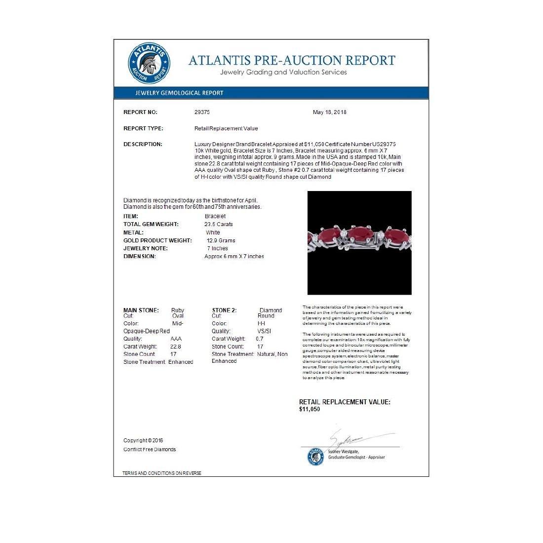 23.5 CTW Ruby & VS/SI Certified Diamond Eternity - 3